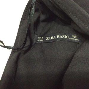 Zara Dresses - Zara Dress Black Fringe Sleeveless Dress Sz M